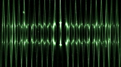 Audio Green Equalizer. Stock Footage