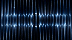 Audio Blue Equalizer. - stock footage