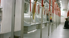 Interior of a Subway Commuter Train Stock Footage