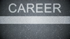 Composite video of career written on the road Stock Footage