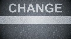 Composite video of change written on the road Stock Footage