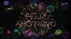 Exploding fireworks Stock Footage