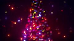 blurred christmas tree lights flashing loopable 4k (4096x2304) - stock footage