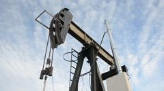 Oil Pump Pumpjack Bobbing Donkey Stock Footage