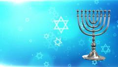 Hanukkah menorah, Happy hanukkah, Israel, background, winter - stock footage