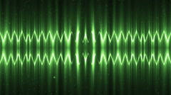 Audio Green Equalizer. - stock footage
