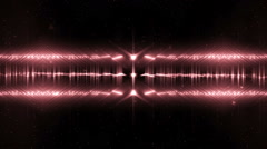 Audio Red Equalizer. - stock footage