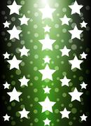 Green background starlight to show Stock Illustration