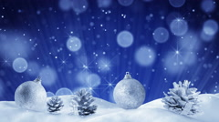 christmas decoration and sparkles loopable animation 4k (4096x2304) - stock footage