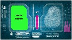 Fingerprints - Application - Blue 01 Stock Footage