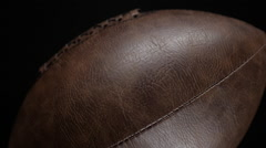 Traditional Pigskin Leather American Football Stock Footage