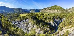 canyon with river La blanche Torrent - stock photo