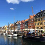 Nyhavn harbor, Copenhagen, Denmark - stock photo