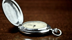 pocket watch. vintage artifact - stock footage