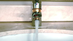 Bathroom sink close up Stock Footage