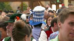 4K UHD Oktoberfest Munich Beer Festival Asian visitor Japanese Korean Chinese Stock Footage