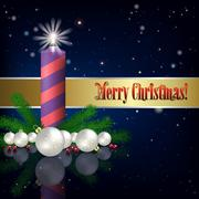 Stock Illustration of Abstract background with Christmas decorations