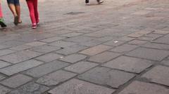People walking at streets of Baden-Baden, Germany - stock footage