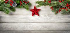 Seasonal Wooden background - stock photo