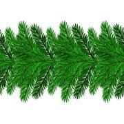 Fir Green Branches Stock Illustration