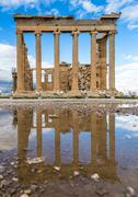 Reflection of the acropolis, Athens, Greece Stock Photos