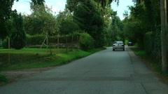 Countryside road near Eisingen, Germany, slow motion Stock Footage