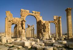 Ruins of ancient city, Palmyra, Syria Kuvituskuvat
