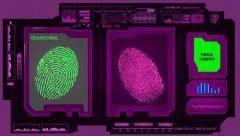 Fingerprints - Advanced Scan - Pink 01 Stock Footage