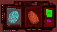 Fingerprints - Advanced Scan - Red 01 Stock Footage