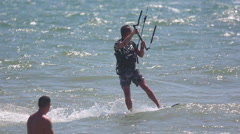 Kite surfer at Mui Ne resort beach , Vietnam. Stock Footage
