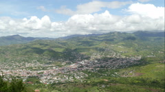 Overview of Matagalpa village from Apante hill Stock Footage