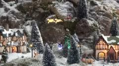 Santa Claus in the arreslee. - stock footage