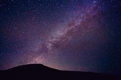Night Sky with Stars and Galaxy - stock photo