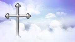 Cross Above the Clouds Loop - stock footage