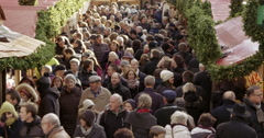 Christmas Market Germany crowd Stock Footage