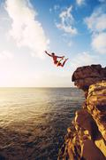 Cliff Jumping - stock photo