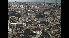 Vintage 16mm film, 1955, Italy, Venice square aerial #2 - stock footage