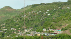 Overview of Matagalpa slum from rooftop Stock Footage