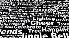 Christmas words across loop - stock footage
