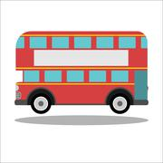 Retro city bus on a white background Stock Illustration