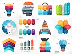 Creative vector arrows infographics, diagrams, graphs, charts for presentation Stock Illustration