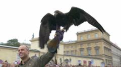 4K UHD Oktoberfest Munich Beer Festival Sunday Parade procession eagle Stock Footage
