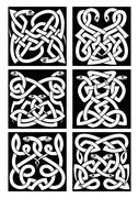 Stock Illustration of Celtic snakes knot patterns with tribal ornament