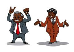 Successful cartoon businessman and manager Stock Illustration