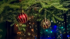 New year, Christmas decorations Stock Footage