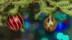 Beautiful Christmas tree decorations Stock Footage