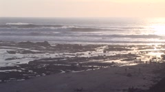 Glistening ocean with tide pools.mp4 - stock footage