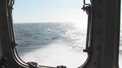 Pilot boat ocean starboard view Stock Footage