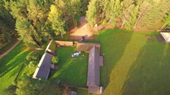 The green view of the Seto museum in Estonia Stock Footage