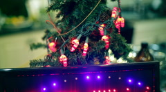 Open sign for christmas xmas Stock Footage